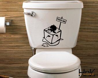 penguin decal vinyl wc sticker wall decal interior bathroom decor 008