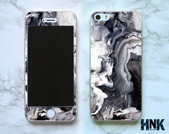 Iphone SE full skin / Iphone 5s decal / Iphone 5 decorative cover / black art case IS003