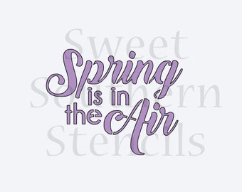Spring is in the Air Cookie Stencil