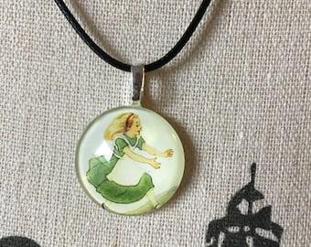 Wonderland Jewelry Alice Gift For Book Lover Fantasy Book Alice In Wonderland Avid Reader English Teacher Classic Literature Gift Necklace