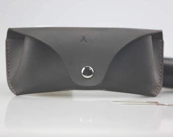 Leather Eyeglass Case, Leather Glasses Box