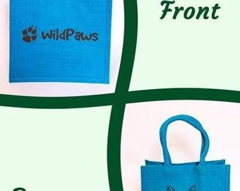 Jute Bag, Turquoise Bag, Reusable Bag, Dog Bag, Bag, Blue Bag, Jute Bag, Shopping Bag, Reusable, Cute Jute Bag, Dog Jute Bag, Turquoise Bag