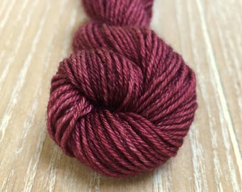 5 mini skein hand dyed yarn, 75/25%Superwashed  Extra Fine merino wool/silk 5x 18 gram