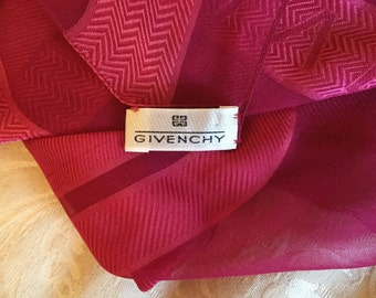 Givenchy, silk scarf in pink, with Givenchy logo and original label