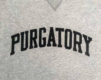 Purgatory Crew Neck Varsity College Sweatshirt