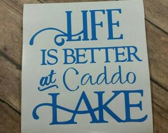 Life is Better at Caddo Lake decal Caddo Lake