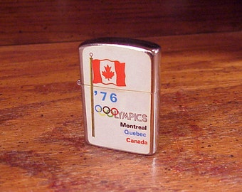 1976 Montreal Olympics Lighter, marked Wind Proof Lighter, made in Japan, unfired, Collectable, 1970's