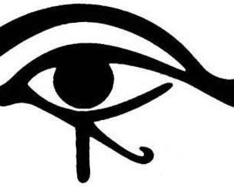"""Eye of Horus sticker // 6"""" inch vinyl decal // choose WHITE or BLACK // Eye of Ra // Wedjat // Udjat // Uadjet // Wedjoyet / Edjo / Uto / Re"""