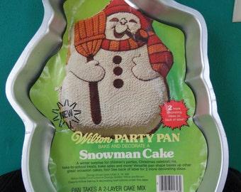 Snowman Party Pan Wilton Cake pan
