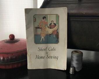Vintage Sewing Manual - Sewing Book - Singer Sewing Manual - Sewing Guide - Singer Sewing - 1920's Sewing Manual