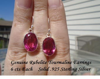 12 ct Rubellite Tourmaline Earrings