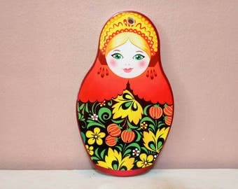 Babushka, Babushka Wall Hanging, Babushka shaped pot bottom, Matryoshka Russian Doll , decorative,  hanging babushka, Pot Bottom, Wall Decor