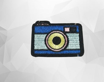 Camera Iron on Patch(M2) - Camera Cartoon Applique Embroidered Iron on Patch Size 5.1x3.7 cm