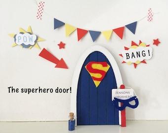 Superhero door *Superman*/ magic doors/ fairy doors