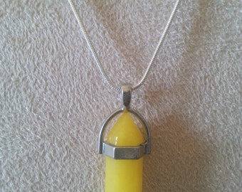 Chakra necklace, Yellow
