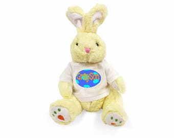 "Personalized Carrot Paw Easter Bunny 14 "" - Yellow"
