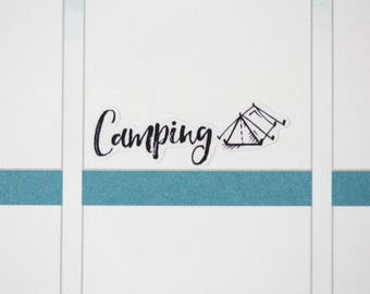 48 Camping Stickers | Vacation Stickers | Planner Stickers designed for use with the Erin Condren Life Planner | 0727