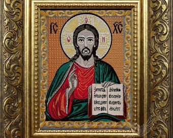 Machine Embroidery Design Jesus Icon