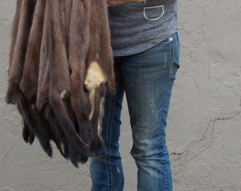 """1 - Large Tanned WILD MINK from Minnesota (28"""" tip to tip-BE)"""