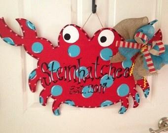 Crab Wooden Door Hanger