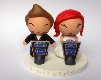 Wedding Cake Toppers- Game Show Couple