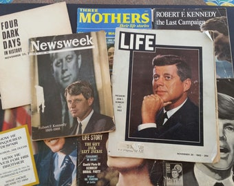 Lot of 8 Vintage 1960s Kennedy Magazines