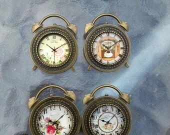 Clock brooch / pin / badge