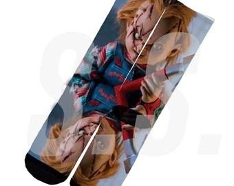 Custom Socks - Chucky! Doll Horror Movie elites elite sock