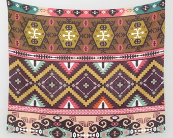 Colorful Aztec Print Tapestry - 3 Sizes