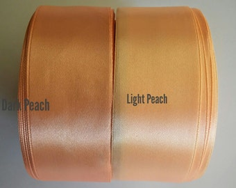 Satin ribbon trim, Peach, Pink, Cream, White, Lilac ribbon, Wedding decoration, Gift wrapping, Invitation card, WIDTH 1.5 in /3.8 cm