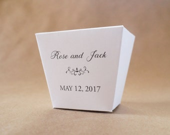 Take Out Box Wedding Favor, Carry Out Box, Candy Box, Dessert Buffet, Candy Buffet, Sweets Table, Chinese Food Container - Personalized