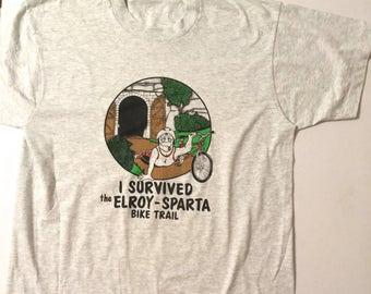 Elroy Sparta Bike Trail Shirt 1990's L