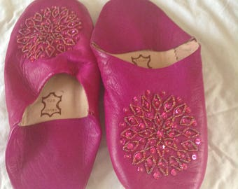 Moroccan handmade slippers
