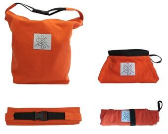 Travel Gift Set: Dog Food/Water Bowl & Dog Food Carrier | Camping | Dog Gift | Pet Present