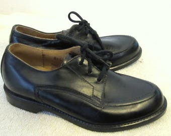 Boy's,Vintage 60',Pointy Black MAD MEN era Leather Oxfords By Status Jr.11