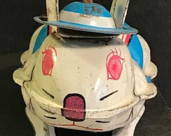 rabbit toys,hopping toys,yone toys,japanese toy,litho toys,tin toys,steel toys,antique toys,animal toys,circus toys,push pull toys,epsteam.