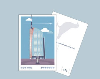 Milan Icons Postcard > Unicredit tower, piazza Gae Aulenti
