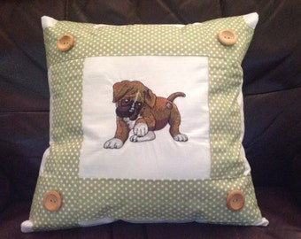 Boxer Puppy Cushion