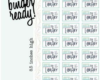 Library Planner Stickers | Library Stickers (#207)