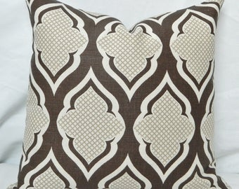 Christopher Farr Cloth Venecia- Decorative Pillow Cover with / Designer Hand Printed Linen Fabric From UK