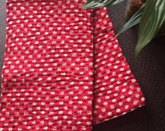Handmade kantha quilt, gudri throw, kantha tablecloth