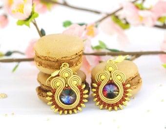Handmade Soutache Earrings Queen Cleopatra
