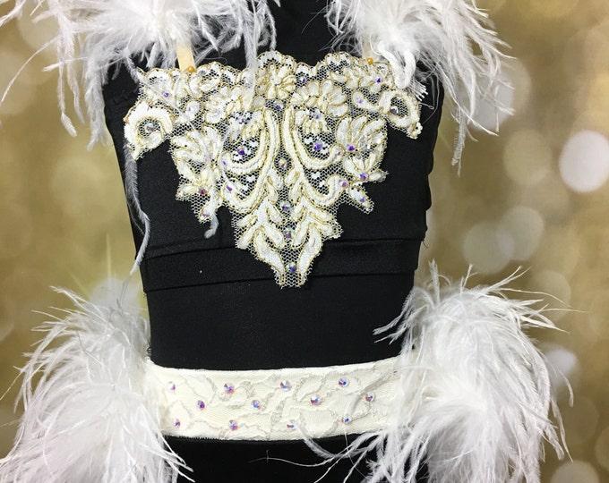 Jazz Dance costume; Black/Hot Pink Dance Costume, black jazz  Dance Costume, READY to SHIP Dance costume ; custom Dance Costume, solo dance