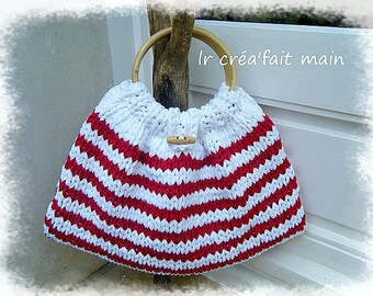 Spirit marine Tote recycled cotton knitted purse
