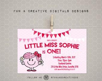Little Miss Hug Inspired Invite