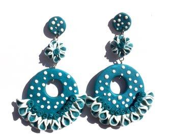 Flamenco earrings, earrings Hoop, Spanish dance, pending Gypsy, flamenco gift for her, unique gift, personalized gift