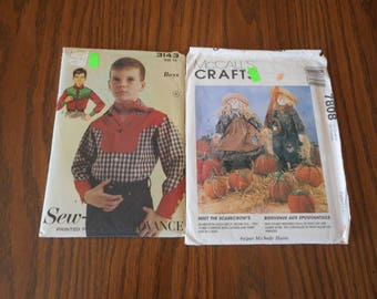 Scarecrows and Cowboys - Vintage patterns