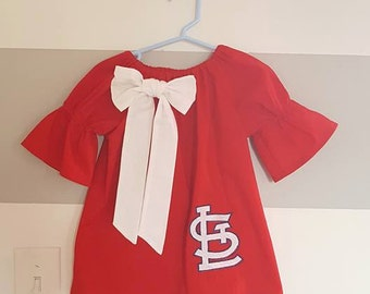 STL Cardinals Peasant Dress