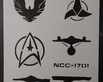 Star Trek Enterprise Klingon Romulan Custom Stencil FAST FREE SHIPPING