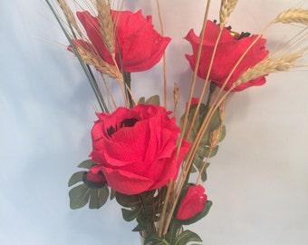 Field Poppy Bouquet w/Chocolates